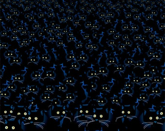 a crowd of Cats watching you..