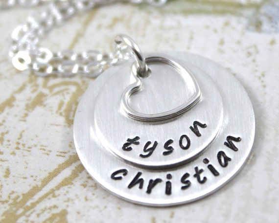 Personalized Necklace, Best Friend, Custom Hand Stamped, Personalized Jewelry, Engraved Necklace, custom name, Personalized Gift