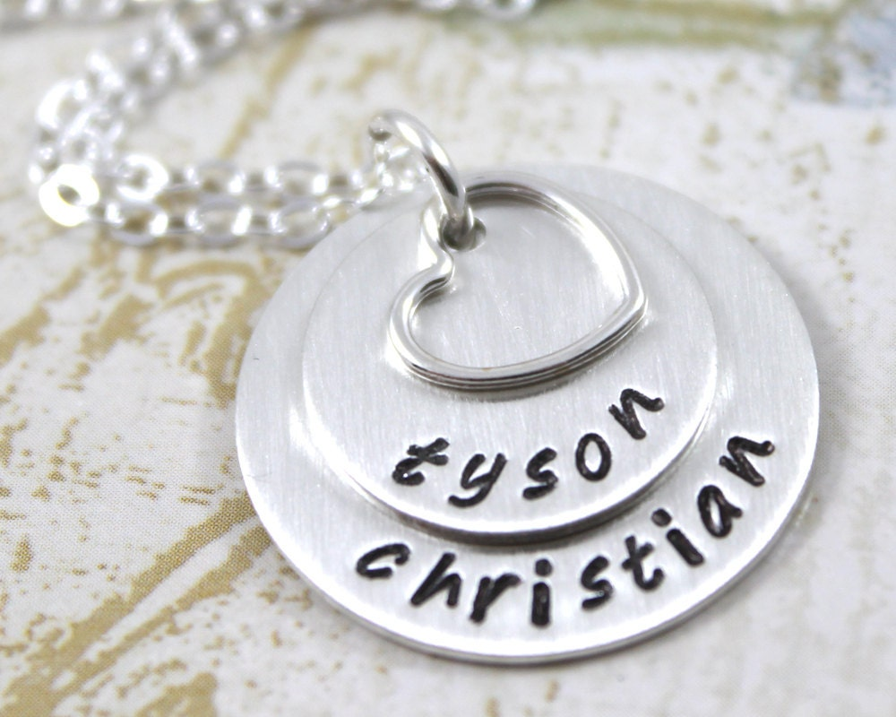 Mother's Day Personalized Necklace Custom Hand Stamped