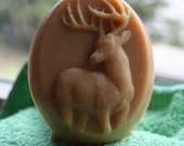 Scented Deer Soap, Deer Soap, Buck with Antlers Soap, Homemade Soap, Made in Montana Soap