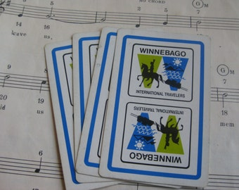 Vintage Winnebago Playing Cards- Set of 10
