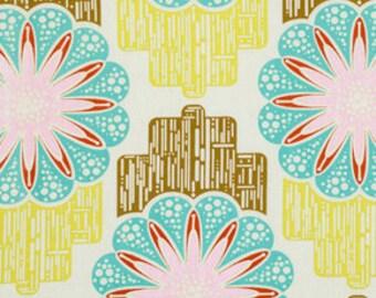 Field Study Linens - Anna Maria Horner Fabric - Flower Circuit in Sunny - Half Yard