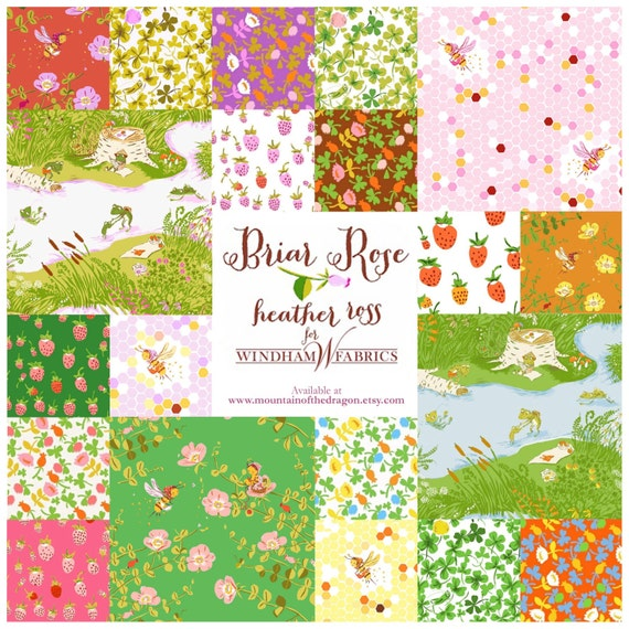 Briar Rose Collection Heather Ross Fabric 20 Half Yard
