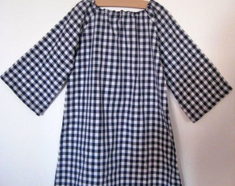 Sring Sale Anais Valentina House Day Dress- Navy and Red Gingham