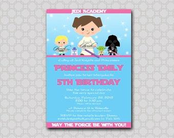 Star Wars Birthday Invitation for girls -  Birthday Invite -  Digital Printable DIY