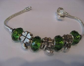 St. Patrick's Day Euro Style Bracelet