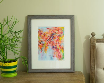 Fine Art Print 16x20 Archival Matted, giclee print, abstract art print, abstract oil painting- Warm In Winter -print