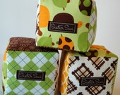 Turtles & Argyles Cloth Play Blocks (Set of 3)