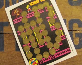 Vintage Scratch Card - Donkey Kong Rub Off Game - Pink Version - 80s Video Games, Vintage Nintendo, Vintage Arcade, Vintage Donkey Kong