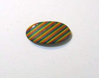 Rainbow Wooden Hair Clip