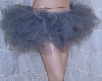 Silver Grey Trashy Ballet TuTu Skirt Adult Medium MTCoffinz - Ready to Ship