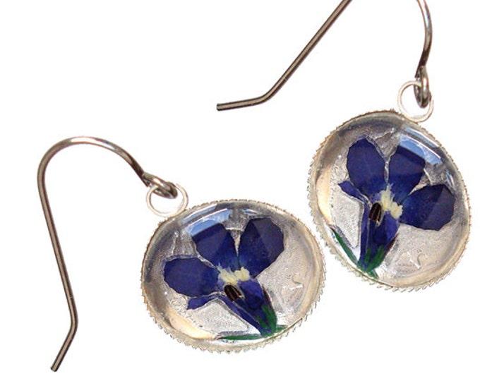 Iris Flower /sterling silver earrings