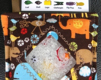 I Spy Bag - Mini with SEWN Word List and Detachable PICTURE LIST- Animal Adventures