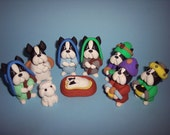 Late February/ March Delivery Boston Terrier Nativity Scene