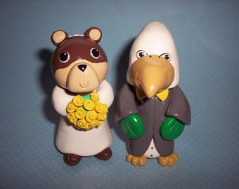 Baylor and Nothern Texas Wedding Cake Topper