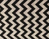 Chevron Stripe Fabric by Quilting Treasures in Black - 1 Yard