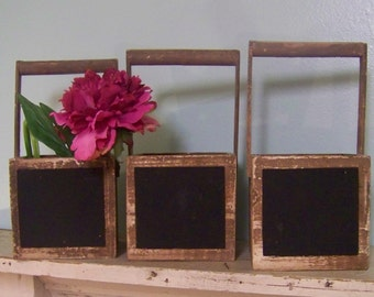 Wedding Centerpieces with Chalkboard-Candle HOlders-Flower Pots-Table Numbers