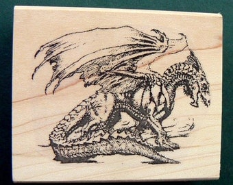 Dragon rubber stamp  P3