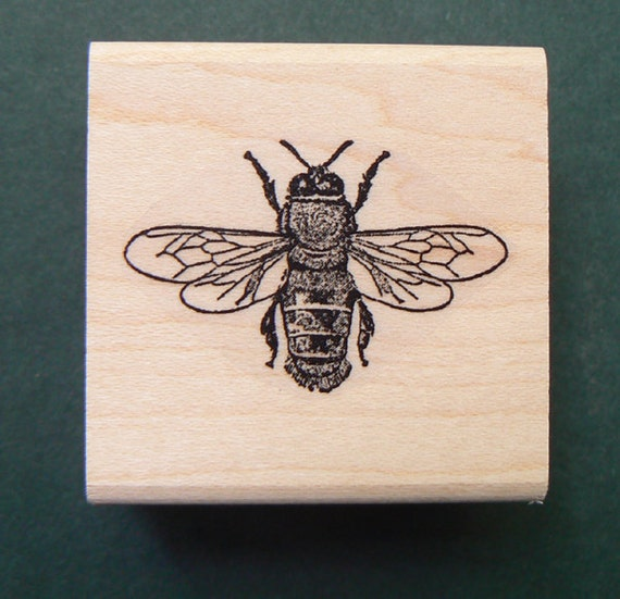 Honey Bee Rubber Stamp - photo#3
