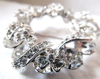 SALE Vintage Eisenberg Ice Rhinestone Brooch Was 65.00 Now 57.99