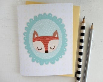 Looking Foxy Note Card