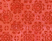 Red-Orange Lace Fabric