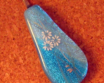 Fused Glass Pendant - Dichroic Pendant - Dichroic Jewelry - Fused Glass Jewelry