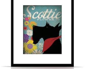 Scottie Flower company artwork original graphic illustration signed archival artists print giclee