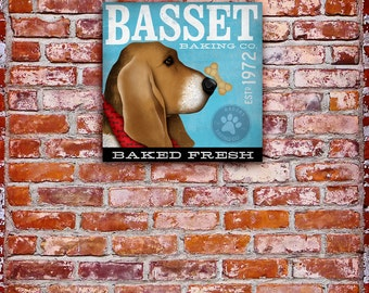 Basset Hound Baking Company Treats Canvas Art graphic art on canvas  by stephen fowler