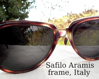 "Safilo ""Aramis"" Italian Sunglass Eyeglass Frames Tortishell wonderful quality frame You fill with YOUR RX"
