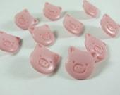This Little Piggy Light Pink Pig Novelty Buttons