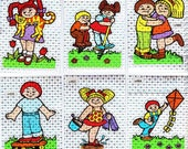 Vintage 80's Kids Cabbage Patch BJ Spec. Stickers Set