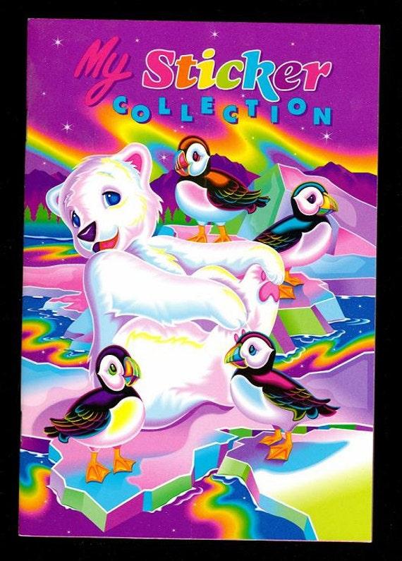 Lisa Frank My Sticker Collection Album Book ROARY the POLAR BEAR