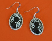 Sale 20% Off // JANE EYRE Earrings - Silhouette Jewelry // Coupon Code SALE20
