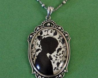 Sale 20% Off // JANE EYRE Necklace, pendant on chain - Silhouette Jewelry // Coupon Code SALE20