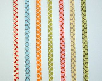 Full Moon Polka Dot Lanyard - Available In Linen, Yellow, Camel, Lime, Tangerine, Slate Blue and Cherry
