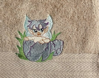 Fairy  Boy Embroidered Hand Towel