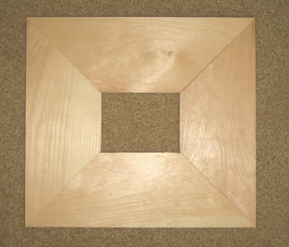 Unfinished 3x4 Wood Picture Frame In Wide 3 5 Inch Moulding