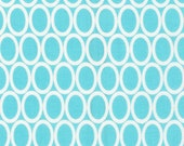 Remix fabric, Quilt Fabric, Christmas Fabric by Ann Kelle for Robert Kaufman- Ovals in Aqua- Fat Quarter, Half Yard or Yards, Choose the cut