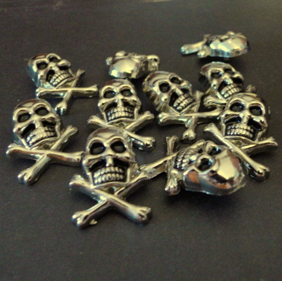 Rivets skull and crossbones snap rivets 6mm quantity for Rivets for leather jewelry