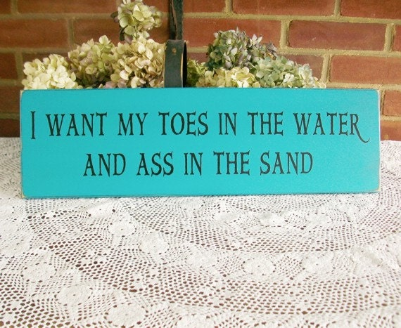 Toes In The Water Wood Beach Sign, Beach Decor, Wall Decor Summer Coastal