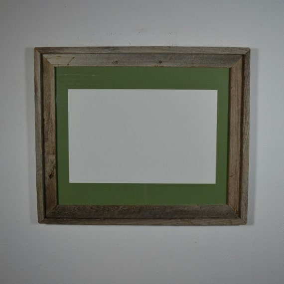 16x20 Wood Photo Frame Green 11x17 Mat For Posters