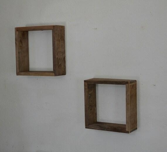 Shadow Boxes Wall Shelves Reclaimed Wood Pair By Barnwood4u