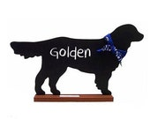 Golden Retriever Shaped Chalkboard,  Golden Retriever Shaped Blackboard - Perfect Pet Lover Gift