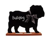 Bulldog  Shaped Chalkboard, French Bulldog Chalkboard, Bull Terrier Chalkboard or Bull Mastiff Chalkboard - Blackboard