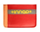 Peach Scarlet Gray Ultra Slim Wallet