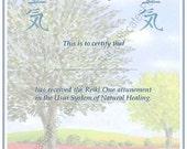 Customized Reiki Certificate Templates - Tree 3