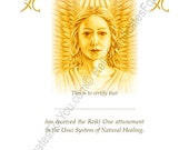 Reiki Certificate Template - Angel