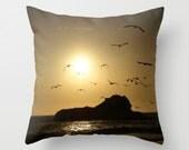 Ocean Birds Pillow Cover Ocean Scene Beach Decor Sweetness Seagulls Pacific Ocean Marine Decor Beach Decor
