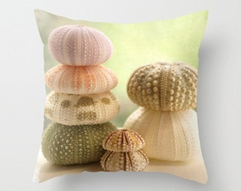 Decorative Pillow Sea Urchin Pillow Urchin Pillow Beach Home Decor Nature Photography Decor Nature Ocean Sea  Earth Echinoderm